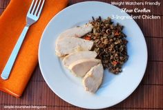 Easy 3 Ingredient Slow Cooker Chicken | Weight Watchers Recipes
