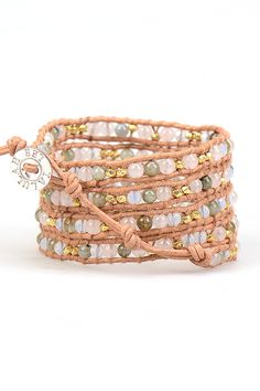 Gold Willow Wrap Bracelet by Talulah Lee #wrapbracelet #leatherbracelet