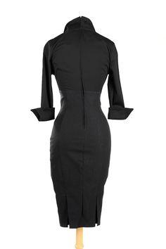 Lauren Dress in Solid Black