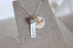 gold and silver names necklace names and by malisaydesigns on Etsy