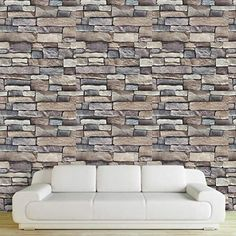 """45 * 100 cm Self-adhesive Brick Stone Wall Stickers PVC Wallpaper Stickers Living Room Hal Art Decals Home Decor Specifications: Product Name: With viscose mural wall stickers Material: PVC Size: """" * cm Wall Stickers Hallway, Hallway Art, Wall Decals, Mural Wall, Hallway Wallpaper, Mosaic Wallpaper, Pattern Wallpaper, Basement Wall Colors, Wallpaper Stickers"""