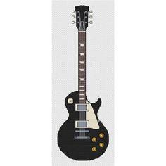Les Paul Ebony Guitar Cross Stitch Kit