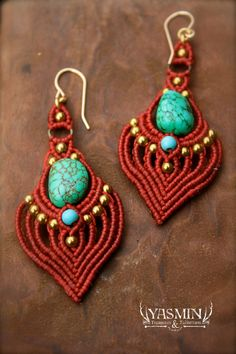 macrame earrings by yasmin