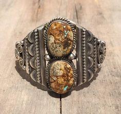 Boulder ribbon turquoise bracelet