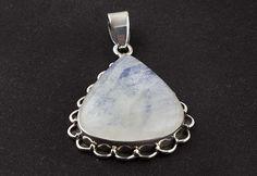 Moonstone Jewellery – Rainbow Moonstone Gemstone pendant, Silver Jewelry – a unique product by Midas-Jewelry on DaWanda