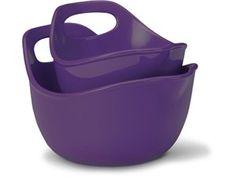 Rachael Ray Stoneware 2-pc. Mixing Bowl Set: Eggplant at Rachael Ray Store