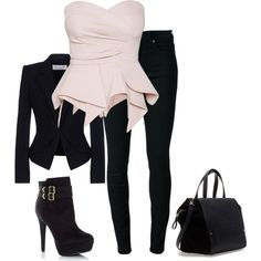 A fashion look from December 2013 featuring Viktor & Rolf blazers, BLK DNM jeans and Zara handbags. Browse and shop related looks. Girls Fashion Clothes, Teen Fashion Outfits, Look Fashion, Cute Casual Outfits, Stylish Outfits, Looks Teen, Really Cute Outfits, Professional Outfits, Polyvore Outfits
