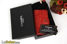 Coque CHANEL cuir forme d'un sac personnalisée dessin fleurs iphone 5 6 6plus sur lelinker.fr