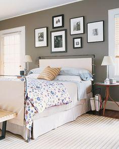 "Gray bedroom, ""Graceful Gray"" Martha Stewart."