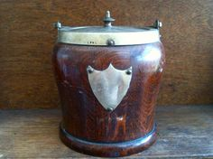 Antique English Wooden Tea Caddie with Shield and by EnglishShop, $125.00