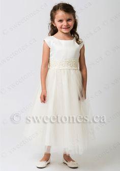 tulle flower girl dress first communion dress