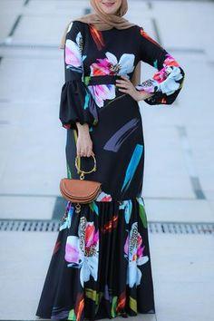 New Arrivals dresses African Maxi Dresses, Latest African Fashion Dresses, African Print Fashion, Modest Fashion Hijab, Muslim Fashion, Modest Maxi Dress, Hijab Dress, Mode Abaya, Hijab Fashion Inspiration