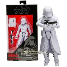 Hasbro Year 2015 Star Wars The Black Series 6 Inch Tall Figure - FIRST ORDER SNOWTROOPER B4597 with Blaster Rifle and Backpack