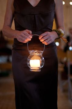 Art Bridesmaids carrying candles instead of flowers for lovely light and tons more amazing warm and cozy details in this fall wedding! Romantic Night Wedding, Starry Night Wedding, Fall Wedding, Wedding Ideas, Forest Wedding, Trendy Wedding, Outdoor Night Wedding, Wedding Reception, Reception Ideas