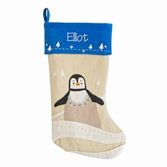 Personalized Snowy Neighbor Stocking (Penguin)  | The Land of Nod