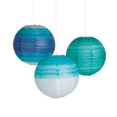 Coastal Seaside Hanging Paper Lanterns - our wedding -