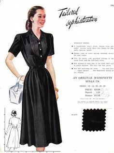 VINTAGE MAISONETTE FABRIC SWATCH 1940S 8X11 774 774