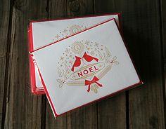 NOEL Letterpress Holiday Card Set | The Brave Shop