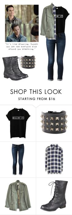 """""""Kai Parker - tvd / the vampire diaries"""" by shadyannon ❤ liked on Polyvore featuring Valentino, AG Adriano Goldschmied, Current/Elliott and Nili Lotan"""