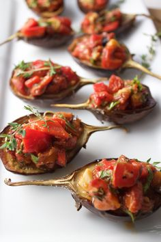 Baby Eggplant, Roasted Tomato & Red Pepper. A perfect way to eat some ...