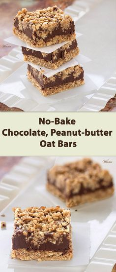 chocolate peanut butter oat bars no bake peanut butter bars no bake ...