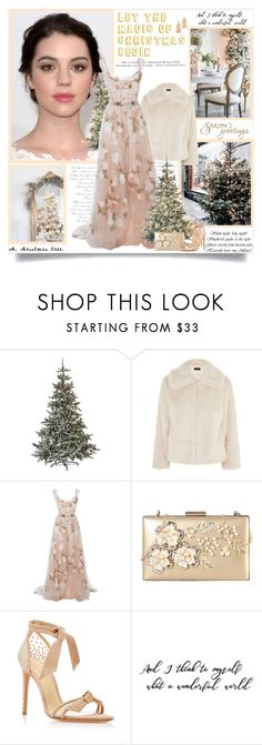 """Let the magic of Christmas begin!!"" by lilly-2711 ❤ liked on Polyvore featuring Home Decorators Collection, Topshop, H&M, Marchesa, Rimen & Co., Alexandre Birman, Stella + Ruby, Christmas, marchesa and topshop"
