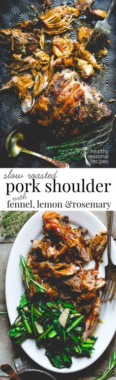 Blog post at Healthy Seasonal Recipes : This meltingly tender Pork Roast is flavored with fennel, lemon and rosemary. You will not believe how incredibly easy it is to slow roast a[..]