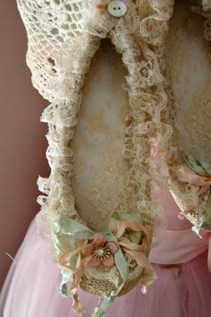 Lace and Ruffles Fairy Ballet Slippers by treasured2 on Etsy, $35.00