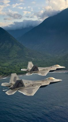 F22 Raptors The most sophisticated jets built ever built by mankind. Stopped in mid-production by Obama, like the Space Program. Too Damn American.....