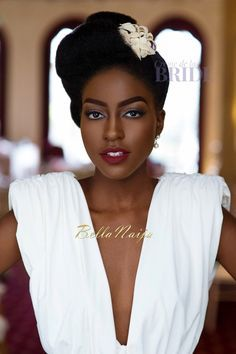 Dionne Smith Natural Hair Bride Inspiration  - Bellanaija - June2015002