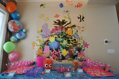finding nemo baby shower table decorations disney finding nemo