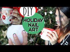 ▶ DIY Holiday Nail Art | GlamMandie - YouTube #DIY #holiday #nails #manicure #nailart #holidaynails