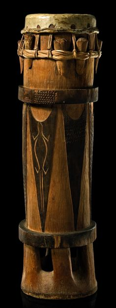 """Mbè"""" drum from the Rio Muni, Fang people of Gabon/Equatorial Guinea (Early 1900s)"""