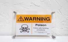 'Warning Poison' sign #lichtworks #graphicdesign #signs #metalsigns #atlantamade