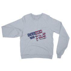"""""""Divided We Fall"""" Unisex California Fleece Raglan Sweatshirt"""
