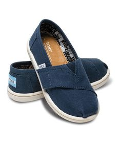 Take a look at this Navy Canvas Classics - Tiny by TOMS Kids on @zulily today!