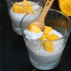 Coconut Mango Chia Pudding ~ so easy, so healthy, and so so good.
