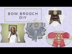 (DIY) COMO HACER BOW BROOCH ,MOÑO O CORBATIN DE MODA SUPER ECONOMICO . - YouTube