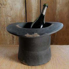 Top Hat Planter/ Champagne Bucket, $45