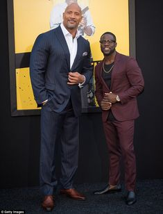 Comedy duo: Dwayne Johnson and Kevin Hart attended the premiere of their new comedy Central Intelligence on Friday in the Westwood area of Los Angeles