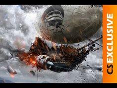 Airship Of Doom | CS Exclusive Speed art (#Photoshop CC) - YouTube