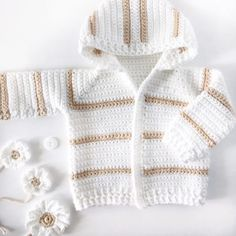Single Crochet Baby Sweater - Daisy Farm Crafts