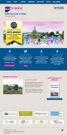 Municipalité de St-Moïse - site Web créé avec Mon site Primo