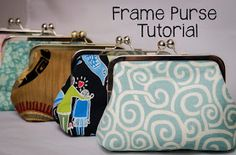 Looking for sewing project inspiration? Check out Frame Purse Tutorial by member Sewplicity. Sewing Hacks, Sewing Tutorials, Sewing Projects, Bag Tutorials, Tutorial Sewing, Diy Tutorial, Coin Purse Tutorial, Pouch Tutorial, Frame Purse