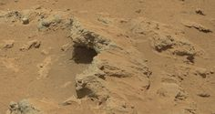 Remnants of ancient streambed on Mars - photo by Curiosity