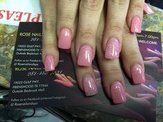 Valentine pink nails