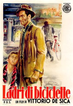 Bicycle Thieves, is a 1948 film directed by Vittorio De Sica. The film follows the story of a poor father searching post-World War II Rome for his stolen bicycle, without which he will lose the job which was to be the salvation of his young family. Bicycle Thieves is one of the masterpieces of Italian neorealism. It received an Academy Honorary Award in 1950 and, just 4 years after its release, was deemed the greatest film of all time by Sight & Sound magazine's poll of filmmakers and…