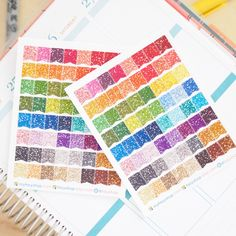 64 Glitter SMALL Page Flags | Sticker Planner by FasyShop on Etsy