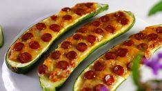 Receita de Barquinhos de piza com curgete. Descubra como cozinhar Barquinhos de piza com curgete de maneira prática e deliciosa!