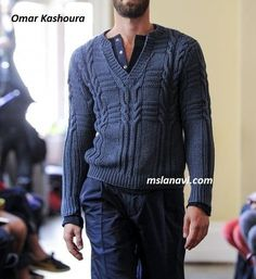 Мужской пуловер-поло от Omar Kashoura - СХЕМЫ http://mslanavi.com/2017/04/muzhskoj-pulover-polo-ot-omar-kashoura/